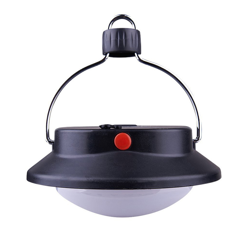 60 LED Ultra Bright Outdoor Camping Lamp Tent Light With Lampshade Circle ABS Rechargeable Fishing Hanging Lighting