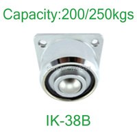 250kg Heavy Duty Flanged Mount Ball Down Facing Ball Roller IK 38B Solid Steel Ball Transfer
