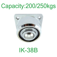 250kg Heavy duty flange mount ball down facing roller 250kg loading ball-transfer-units IK-38B solid steel 360 ball caster
