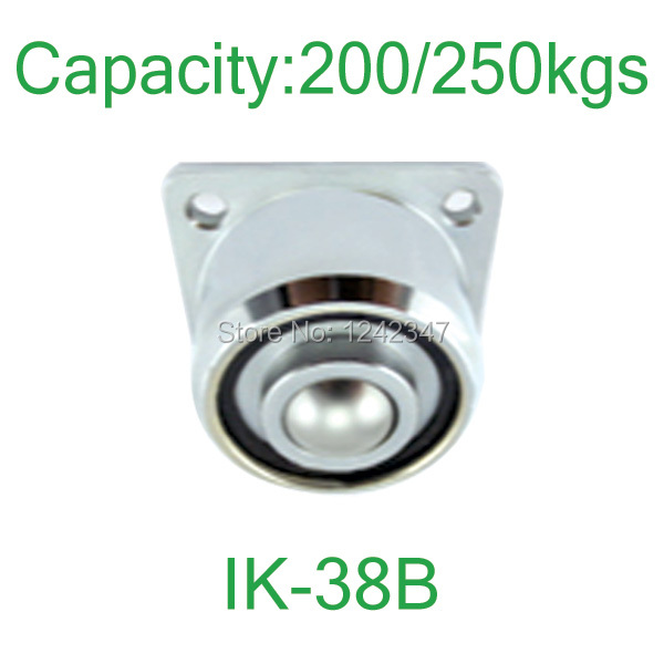 250kg Heavy duty flange mount ball down facing roller ball-transfer-units IK-38B solid steel 360 ball caster
