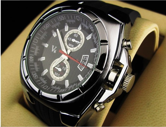 Rr517 Vogue V6 tiras Hour marcas Dial rodada Silicone relógio de quartzo relógio de pulso de moda relógio de pulso