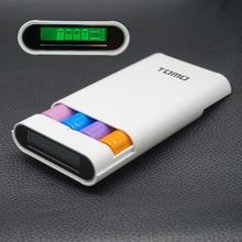 TOMO multi función de banco de potencia 18650 batería caso 2A de salida 18650 cargador DIY pantalla de alta capacidad banco de la energía para el cojín teléfono móvil