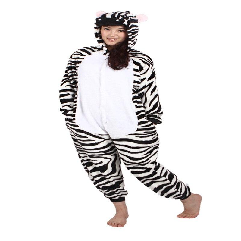 2017 New Adult Animal Onesie Stitch Zebra Unisex Women Pajamas Cartoon Animal Halloween Costume Hoodie Onesie Sleepwear