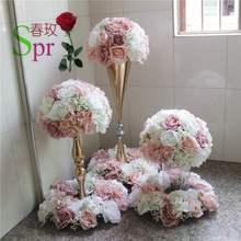 Centro de mesa de boda SPR, Bola de flores para boda, pista de plomo artificial, centro de mesa, decoración de fondo de flores de boda