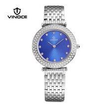 VINOCE delgado señoras relojes de marca de lujo de negocios y de ocio de lujo de diamantes movimiento de cuarzo resistente al agua Relogio