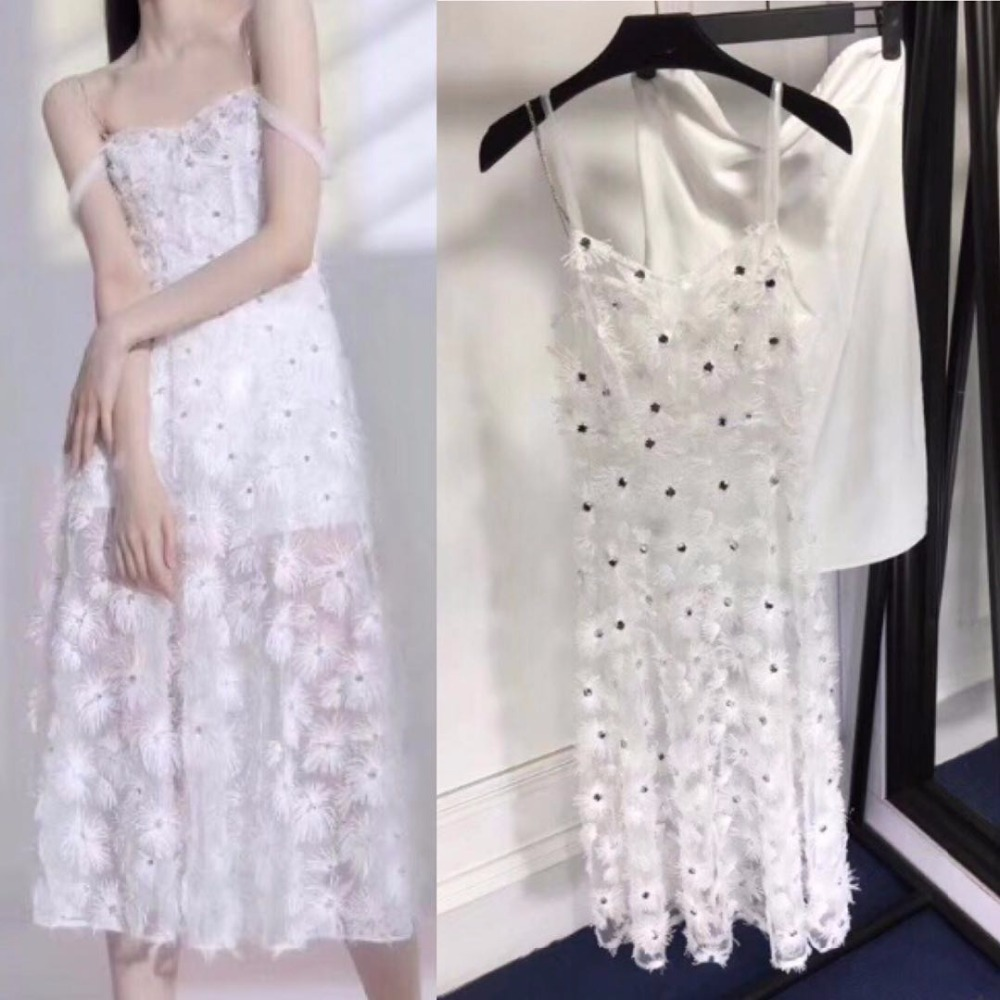 Longue Sexy Piste Summer Plumes De Transparent Courroie Blanc Robes Diamant Luxe Robe Gaine Femmes 2018 Organza wSZTdqII5