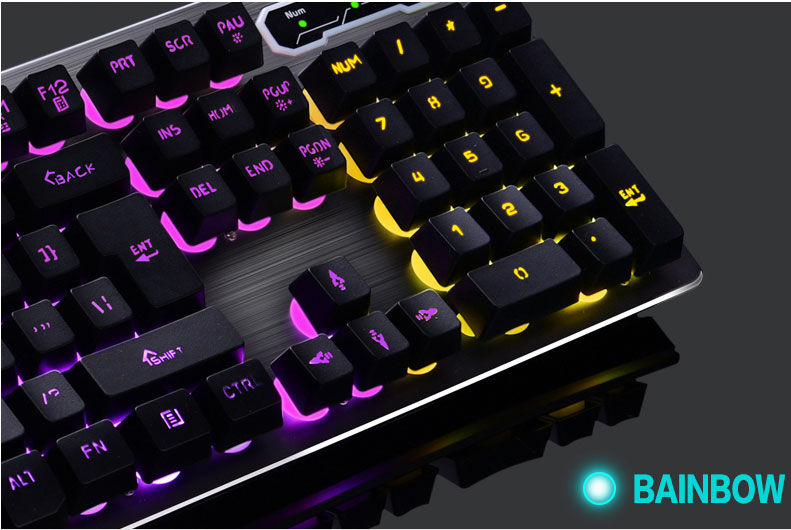 Mk500 teclado sem fio recarregável backlight gaming