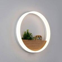 Современный светодиодный настенный светильник для ванной комнаты, спальни, 12 Вт, настенный светильник белого цвета, внутреннее освещение, AC100-265V светодиодный настенный светильник