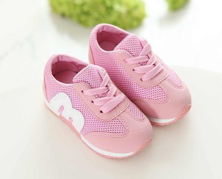 SLYXSH ילדי אביב סתיו בנות בני ילדים mesh סניקרס שטוח תינוק לנשימה ספורט נעלי בנות אופנה סניקרס