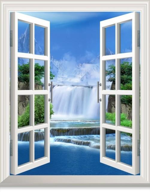 pool baum blau wasser ww003 vogel 3d aufkleber sonnenschein strand fenster aussicht. Black Bedroom Furniture Sets. Home Design Ideas