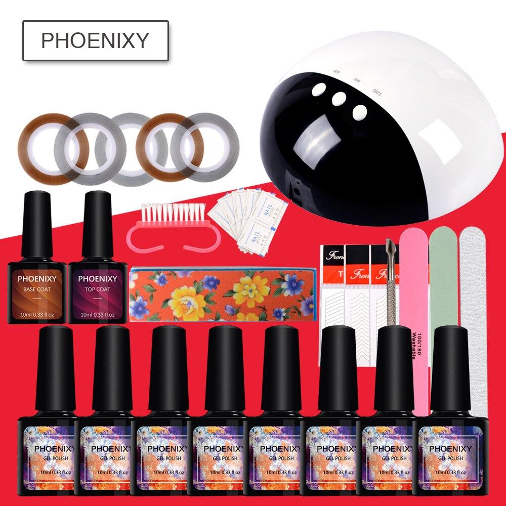 6756f9675cb Manicure Set Nail Extension Set 24W UV Lamp Dryer 8Pcs Nail Gel Polish  Semipermanent Soak Off Kit For Nail Art Sets