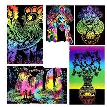 10 листов, цветная бумага для живописи, детская игрушка, 16 K, волшебное рисование, подарок, 26x19 см