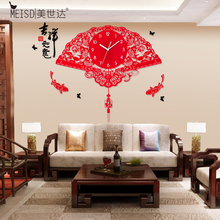 The United States Star personality living room clock pendulum clock luminous quartz clock creative modern minimalist home watch