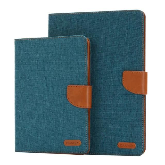 JIaLonGHigh Качество Джинсы Кожаный Бумажник Case for Samsung Galaxy Tab A 8.0 дюймовый Новый Обложка для SM-T350 T355 Таблетки Крышка