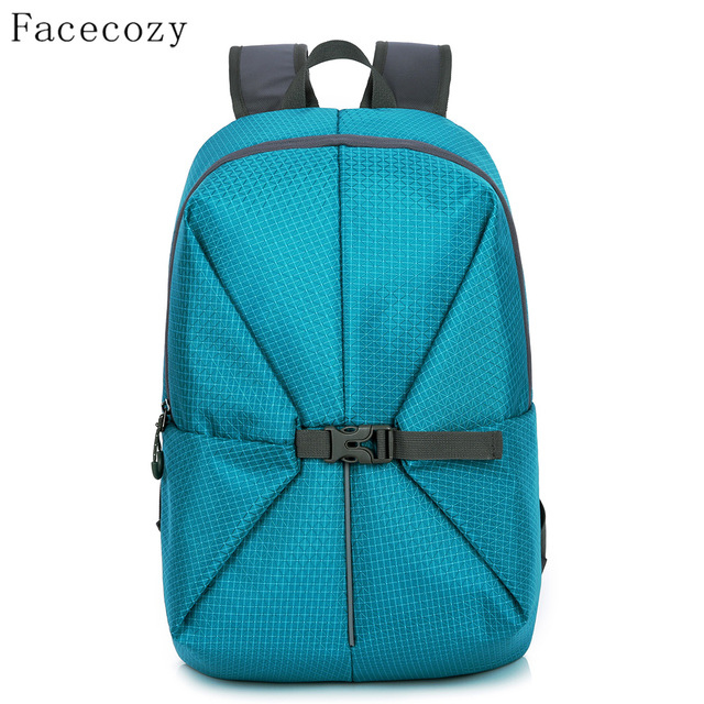 Facecozy Outdoor Men Women Hiking Backpack Nylon Ultralight Waterproof Sport Bag Camping Climbing Fishing Rucksack 40L