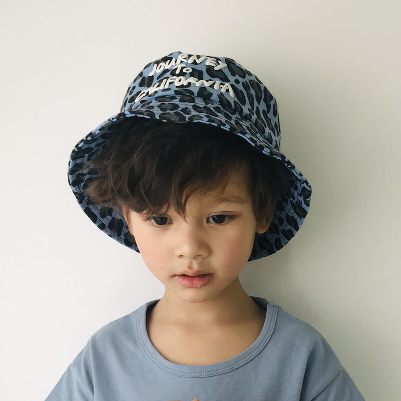 Boys Girls Summer Hat Kids Panama Leopard Bucket Hats Beach Sun Fishing Hat Pop Bob Chapeau