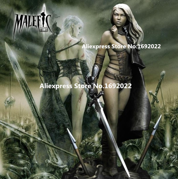 US $19 5  75mm Scale Fantasy Sexy Female warrior Unpainted Resin Model Kit  Figure Free Shippin-in Model Building Kits from Toys & Hobbies on