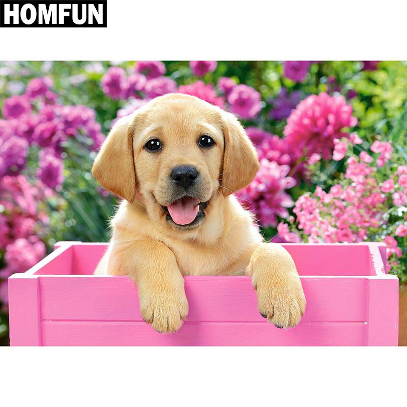 Dog & Flower