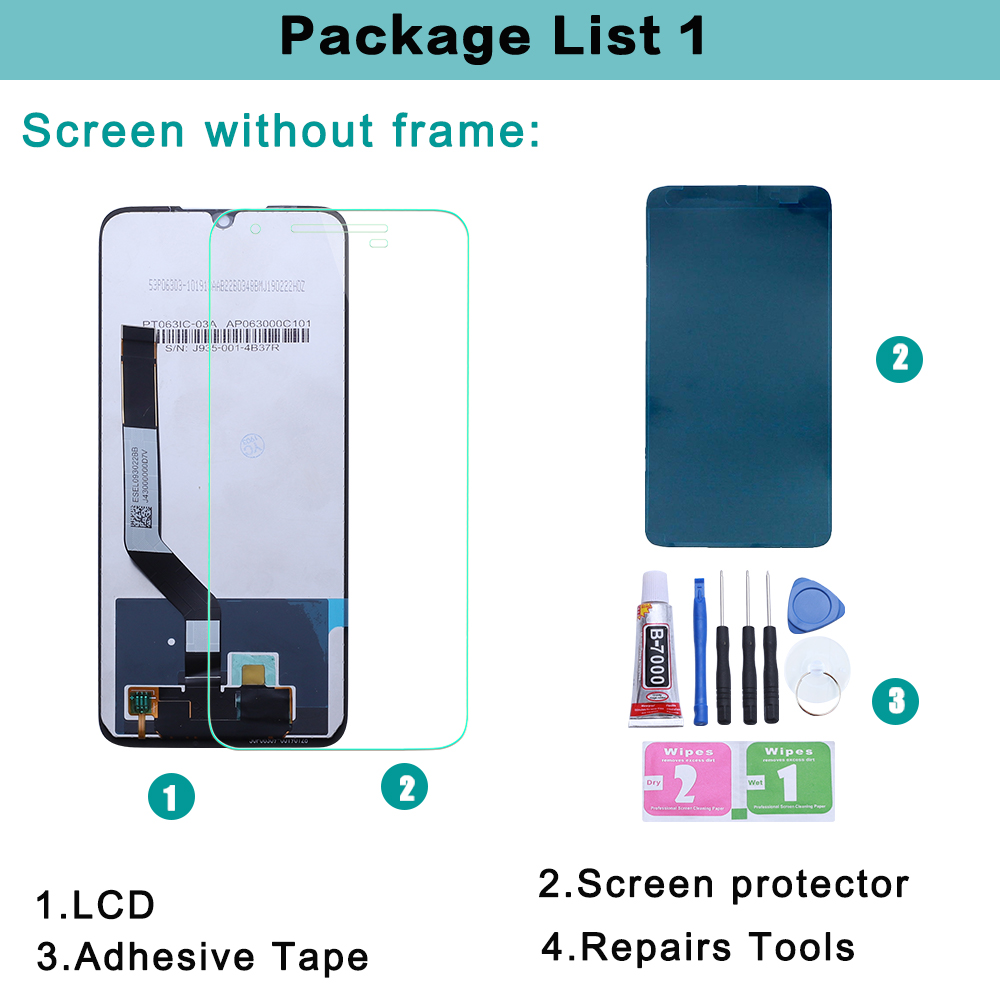 Image 5 - Original For Xiaomi Redmi NOTE 7 LCD Touch Screen digitizer Assembly For Redmi note 7 pro LCD display with frame Redmi NOTE7 LCD-in Mobile Phone LCD Screens from Cellphones & Telecommunications