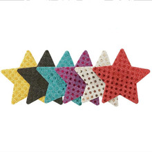 50pairs/lot Women Nipple Cover Sexy Sequins Star Disposable Charm Pasties Self Adhesive Breast Petals
