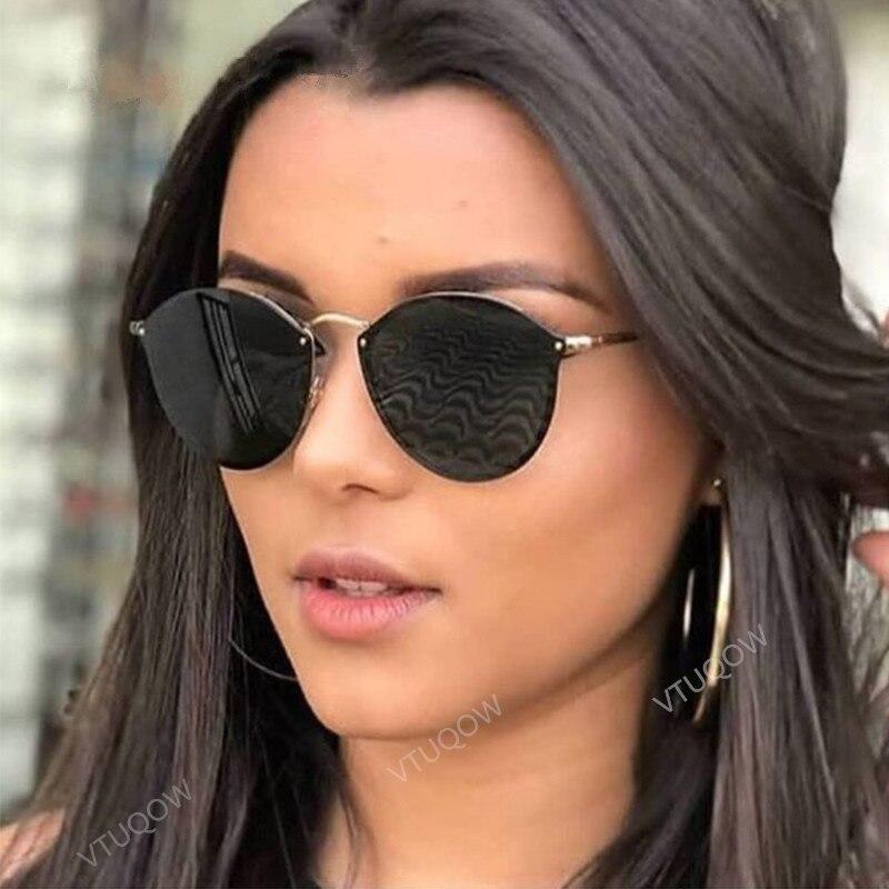 10f3fe248 Tonalidade de luxo da marca óculos de Sol das Mulheres 2019 Moda Verão  Vintage Retro Gato