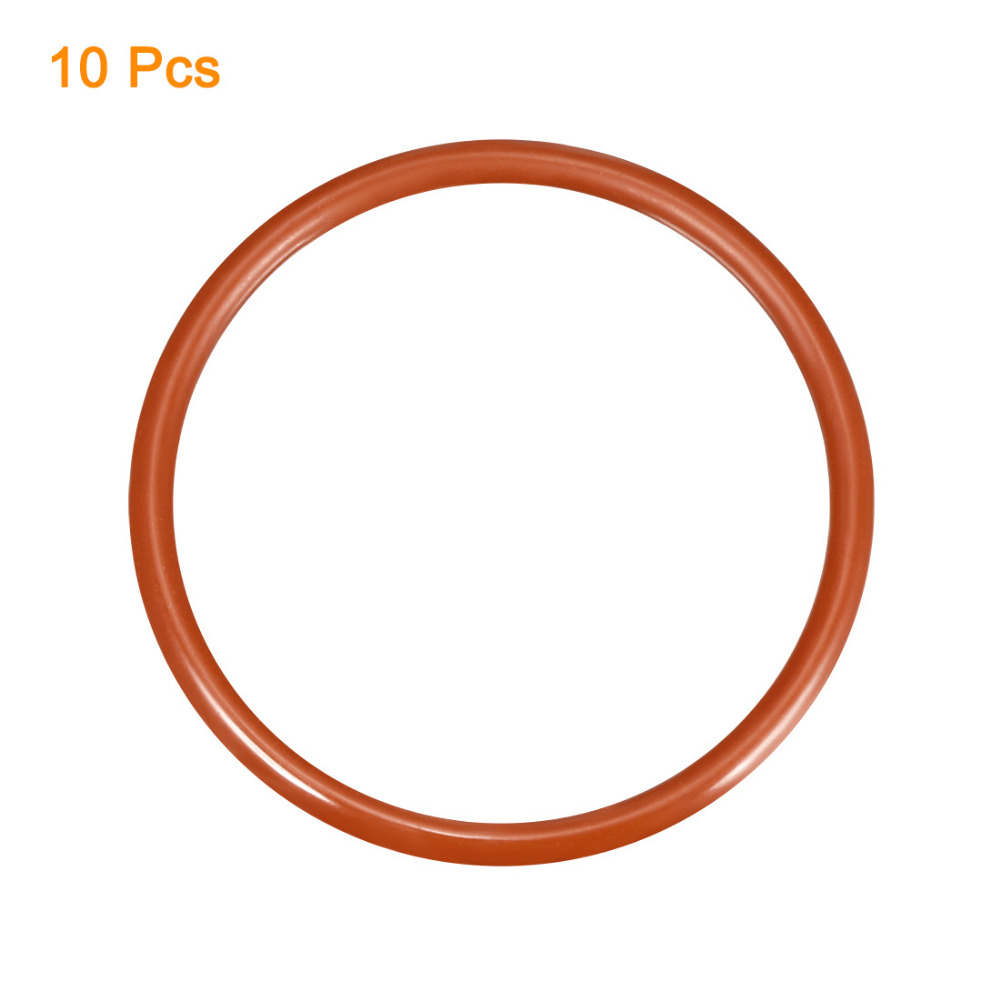 Uxcell 10PCS Silicone O-Ring Gaskets 55/58/60/62x48.8/51.8/53.8/55.8x3.1mm VMQ Seal Rings Sealing Red Home Improvement Hardware