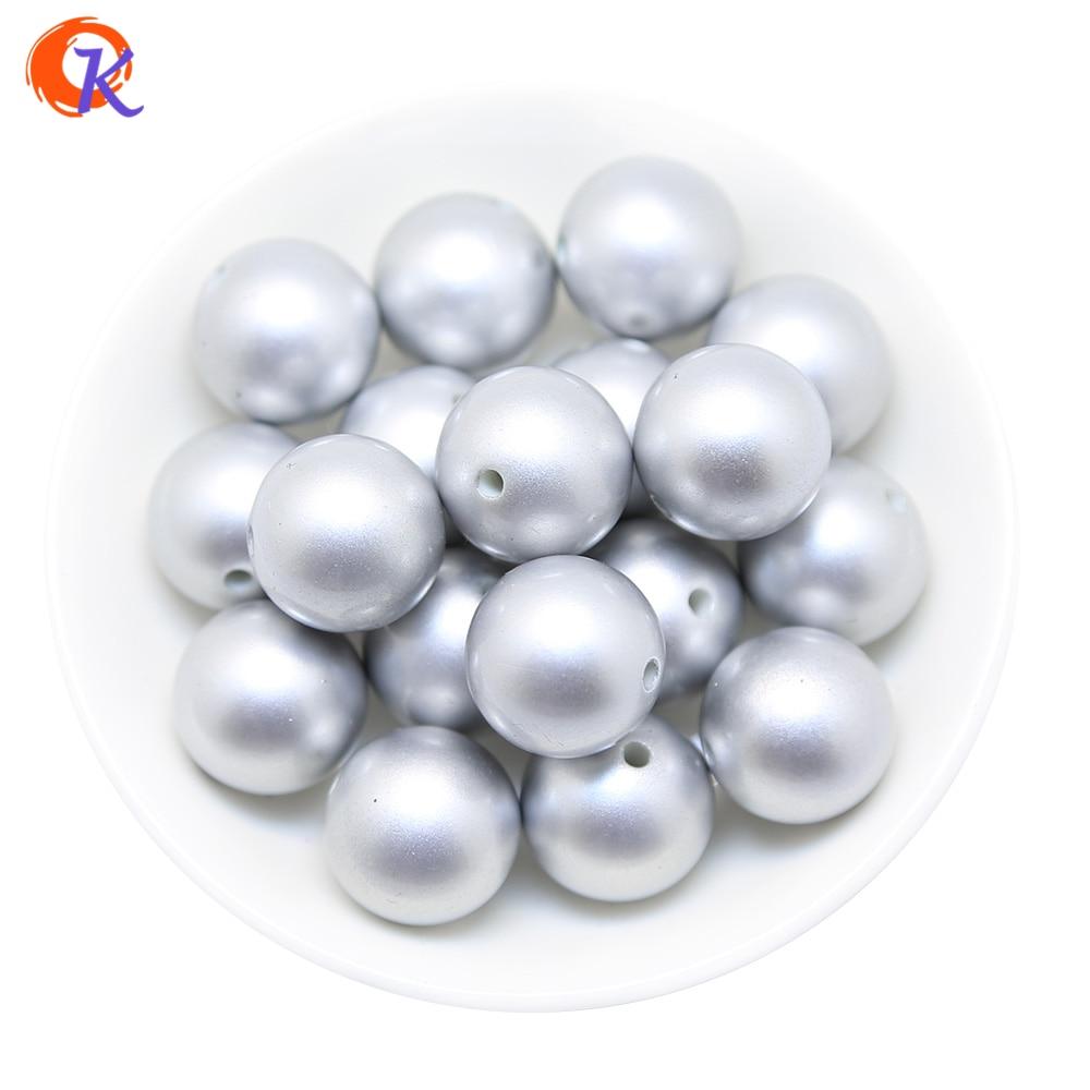 A59 Cordial Дизайн 100 шт./лот моды 20 мм матовый серебристый ABS поддельные Pearl коренастый бисера аксессуары для ручной работы Цепочки и ожерелья ... ...