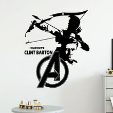 Super Hero Clint Barton Wall Stickers Vinyl Decor For Kids Rooms Living Room Decoration Decal
