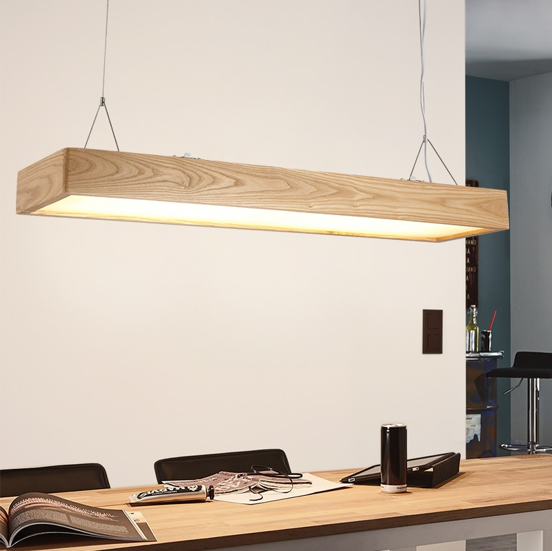 Pendant  Lights in Wooden Body and Acrylic Shades, 95*22cm, 32W LED Strip included, for Working Station, Kitchen Island ben buchanan brain structure and circuitry in body dysmorphic disorder