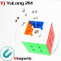 Yj yulong 2 M v2 M 3x3x3 magnetische magie cube yongjun magneten puzzle geschwindigkeit würfel