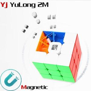 Image 1 - Yj yulong 2M v2 M 3x3x3 magnetic magic cube yongjun magnets puzzle speed cubes