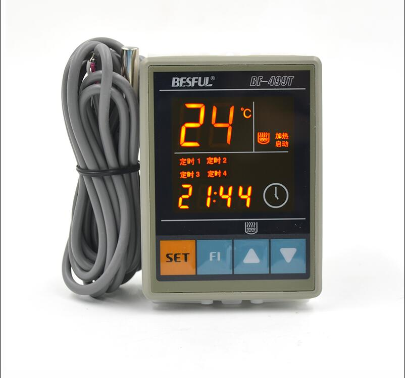 Free shipping Bihe BF-499T four time timing thermostat intelligent heating temperature controller adjustable temperature switch цены