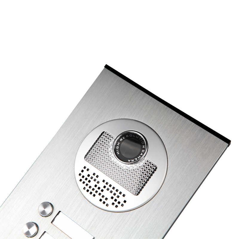 """جديد 7 """"شاشة فيديو إنترفون باب الشقة نظام الهاتف 2 شاشات بيضاء رفيد باب الوصول كاميرا ل 2/3/4 شقة الأسرة"""