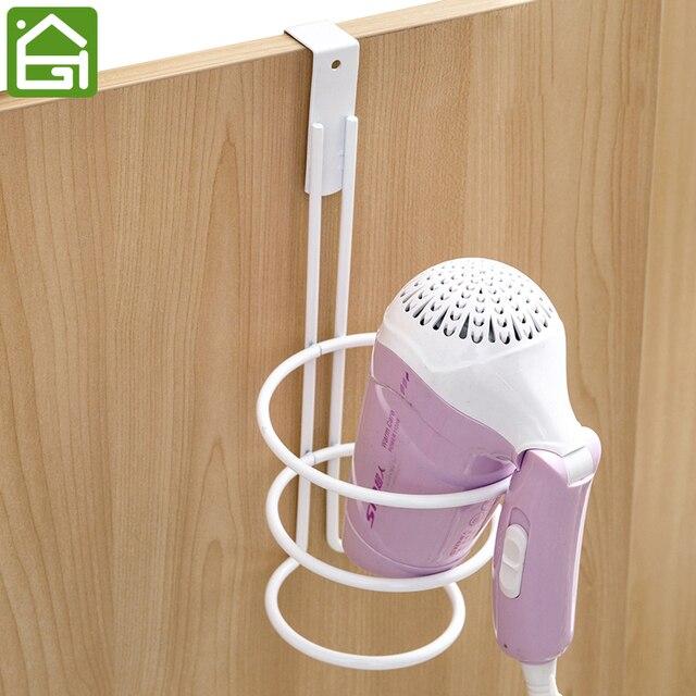 Useful Kitchen Cabinet Hair Dryer Holder Bedroom Bathroom Organizer Hanger  For Hair Care Tools