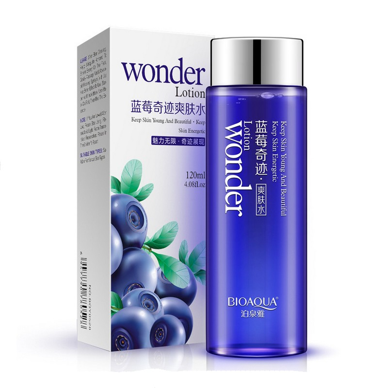 Bioaqua Blueberry Miracle Glow Wonder Face Toner Makeup Water Smooth Facial Toner Lotion Oil Control Pore Moisturizing Skin Care