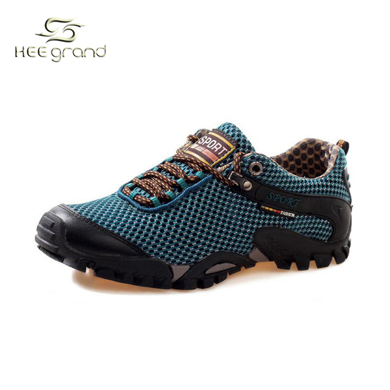 New Outdoor Climbing Lace-Up Air Mesh Breathable Waterproof Crashworthy  Sport Shoes Sneakers Hiking Shoes Men XYD045 new 2017 brand men spring autumn outdoor climbing shoes couple climbing hiking lace up rubber breathable shoes 8037