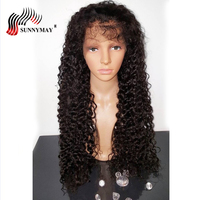 Sunnymay Lace Front Human Hair Wigs Spanish Wave Brazlian Virgin Human Hair Front Lace Wigs With Baby Hair Pre Plucked