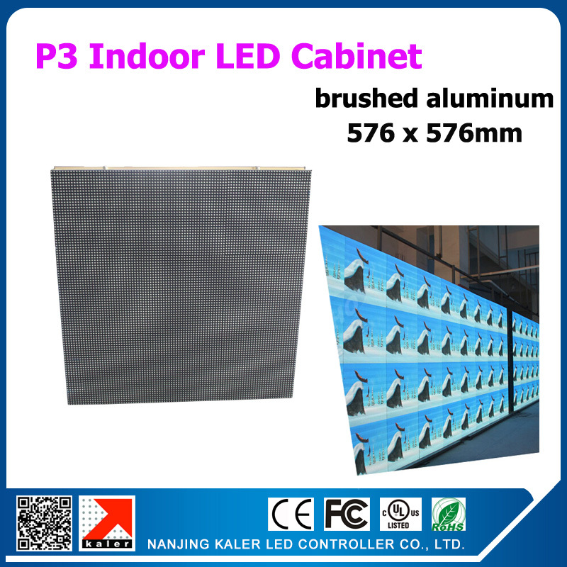 TEEHO SMD 2121 RGB LED Display Screen Cabinets 576mm*576mm P3 Cabinet Rental LED Display Video <font><b>Billboard</b></font> Indoor Advertising <font><b>Sign</b></font> image