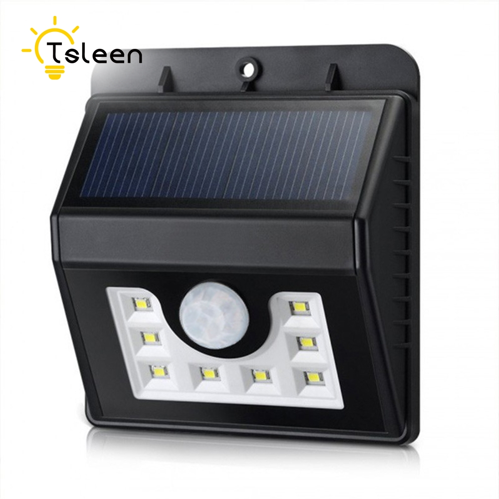TSLEEN 4Pcs LED Solar Light Garden Outdoor Lighting PIR Motion Sensor Emergency Wall Solar Lamp Luces Navidad Solares Exterior