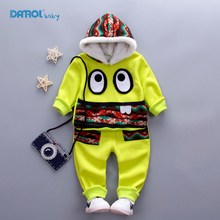2 Piece/Set Boys Girls Clothing Sets 100% Cotton Hoodies Character Children Winter Clothes Coat & Pants Tracksuit for Kids TZ002
