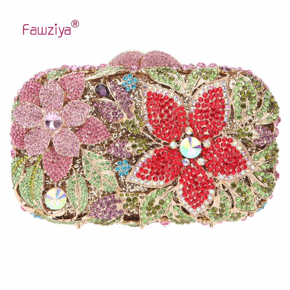 Fawziya Brand Handbags Flower Purses For Girls Handbags Evening Bags And Cutches fawziya bag silver crystal clutch evening bags for womens purses and handbags