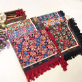 Fashion Creative Scarf Shawl Kerchief Novelty Print Floral Women Echarpe Scarf Luxury Scarves Accessories 110cm*110cm
