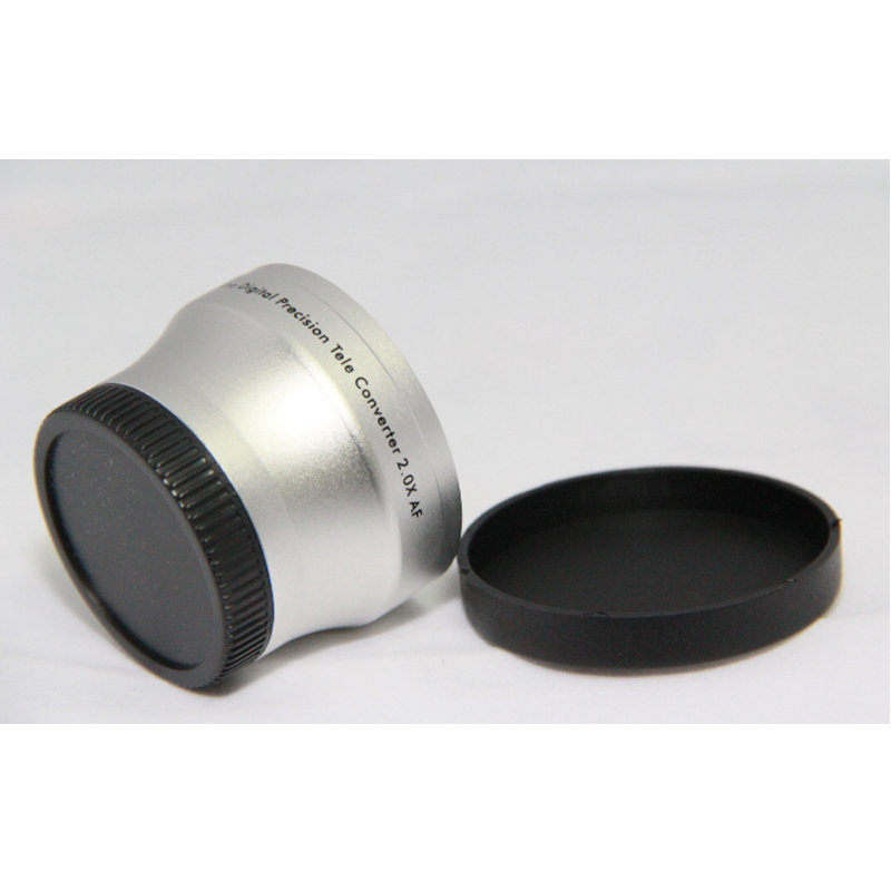 37mm 2.0x TELE Telephoto LENS for Camcorder 37 mm 2x Silver Black37mm 2.0x TELE Telephoto LENS for Camcorder 37 mm 2x Silver Black