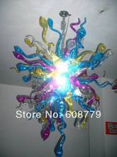 Free Shipping High Ceiling Chain Hanging Cheap Glass Chandelier