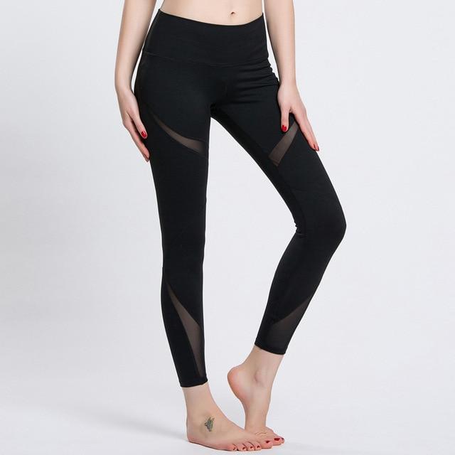 37e869523 Sexo nova marca de cintura alta esticada calças esportivas roupas de  ginástica spandex calças de corrida