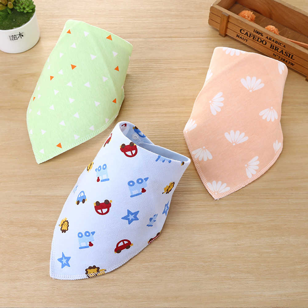 Cotton Baby Bibs Bandana Feeding Brup Cloth for Infant Newborns Saliva Towel Scarf Kids Toddler Baby Care Boys Girls Stuff Bib