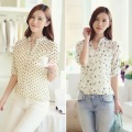 New Summer Women Girl Long Sleeve Chiffon Shirt OL Lady Casual Blouse Tops S-XL