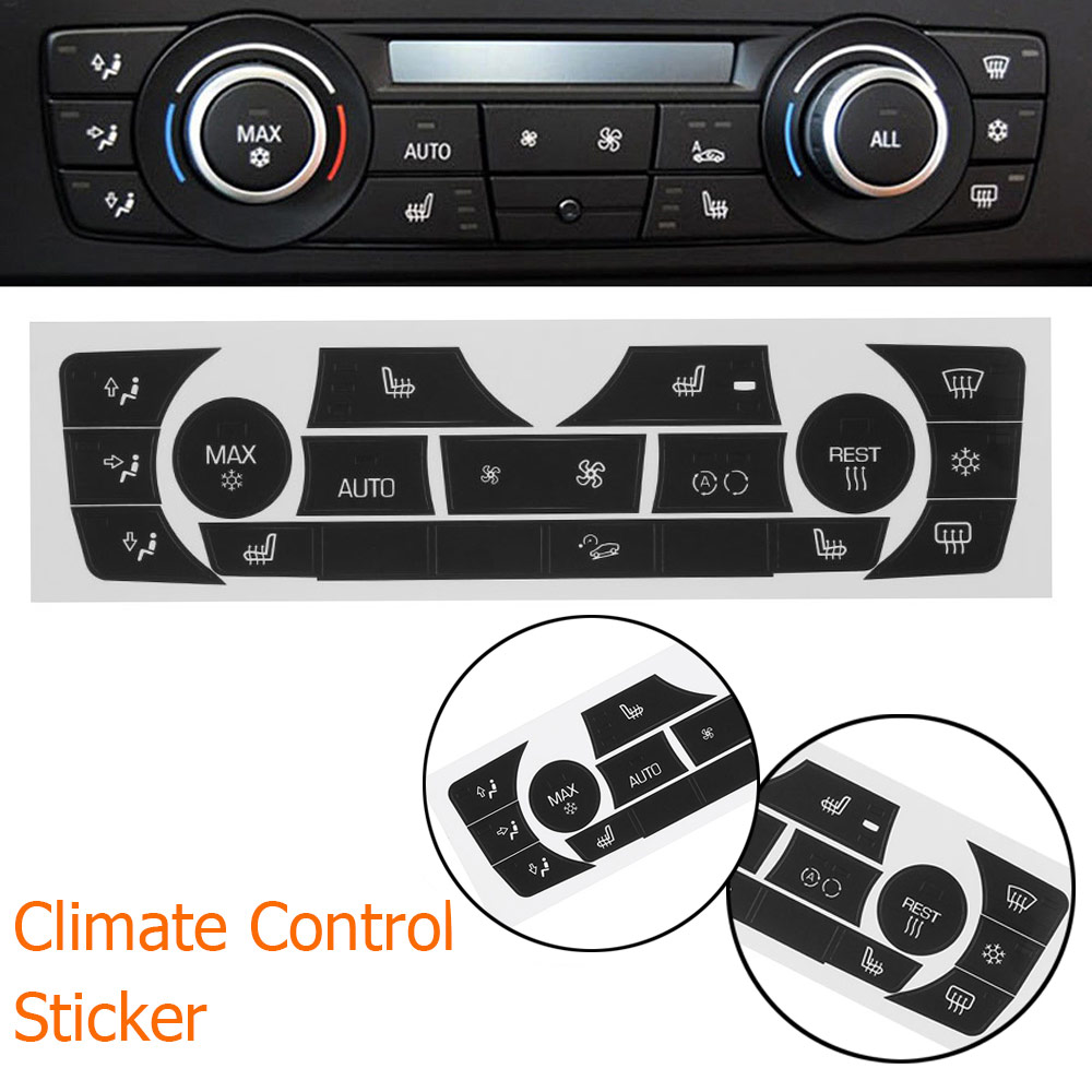 Image 3 - Car Sticker AC Climate Control Button Sticker Panel Button Repair Decal Kit For 2006 2011 BMW E90 E91 E92 330I Regular Type-in Car Stickers from Automobiles & Motorcycles