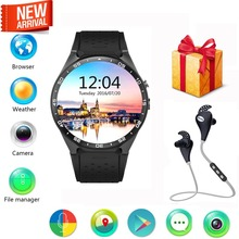 Kw88 android 5.1 smart watch telefon mtk6580 cpu 1,39 zoll 400*400 bildschirm 2.0mp kamera smartwatch für apple moto huawei sony