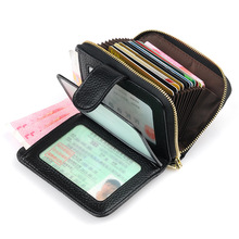 купить Genuine Leather Vintage Small Women Wallets Female Cowhide Wallet Zipper Design Coin Purse Pockets Mini Wallet Card Holders по цене 703.42 рублей